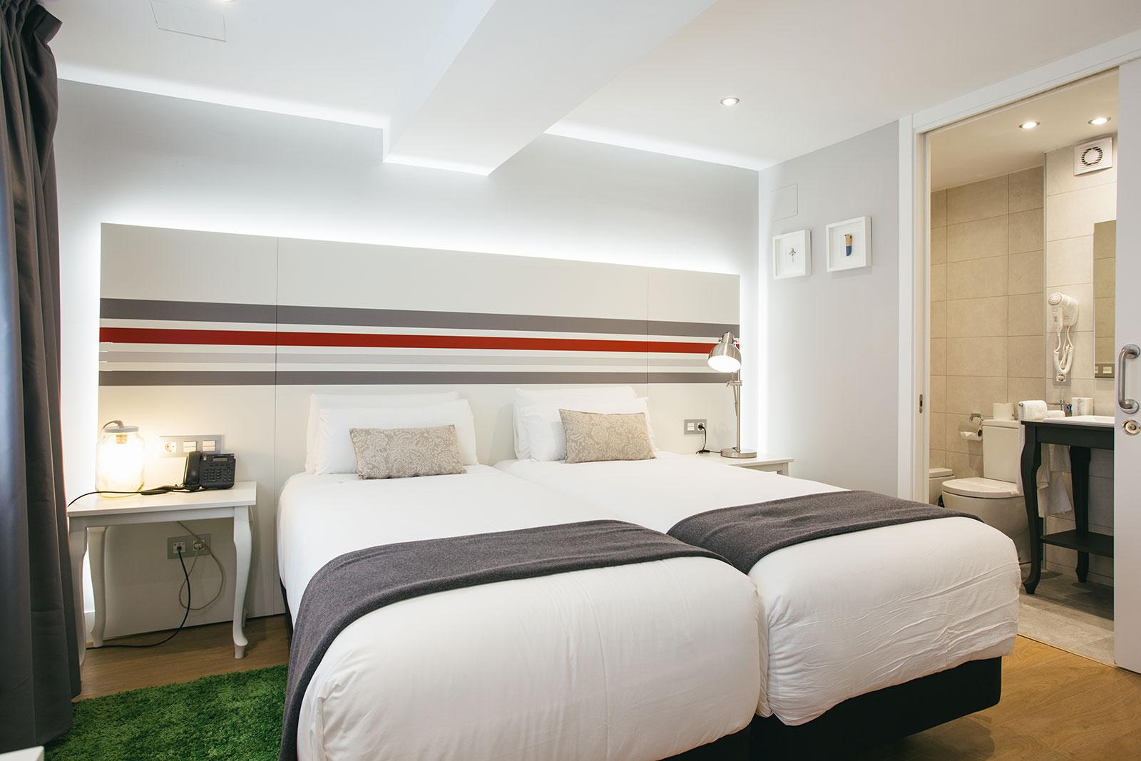 Interior bedroom twin beds